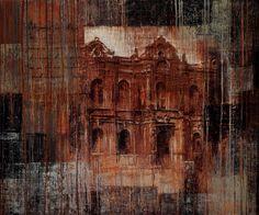 """Картина """"Дом с привидениями"""", 100х120 см, холст, масло"""
