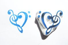Treble Clef Heart Hand Carved Rubber Stamp by SweetSpotStampShop Treble Clef Heart, Eraser Stamp, Table Name Cards, Music Heart, Embroidery Hearts, Handmade Stamps, Heart Hands, Love Symbols, Craft Items