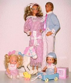 Barbie - The Heart Family, 1980s (I got mum, dad and the children plus fashion and furniture, but I lack the grandparents)