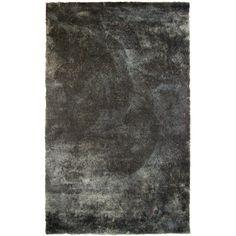 Fur Charcoal Shag Area Rug