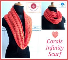 Crochet Corals infinity scarf - Maz Kwok's Designs