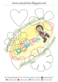 Miss Dorita: Siluetas de Gran Utilidad Decorative Plates, Kids Rugs, Symbols, Bows, Letters, Templates, Cute, Flowers, Crafts