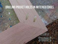 how to drill pocket holes in mitered corners SANY2860 copy