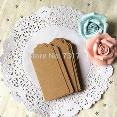100 pcs papier Kraft étiquettes de cadeau de mariage pétoncles étiquette vierge bagages + cordes dans Etiquettes d'emballage de Industrie & affaires sur AliExpress.com | Alibaba Group