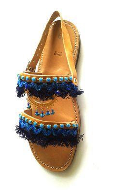 GREEK LEATHER SANDALSEthnic sandalsboho sandalsflat