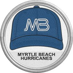 Myrtle Beach Hurricanes - baseball cap hat - sports logo - uniform - South Atlantic League -Minor League Baseball - MiLB - Created by Jackson Cage Minor League Baseball, Sports Logo, Myrtle, Caps Hats, Baseball Cap, Cage, Jackson, Logos, Logo