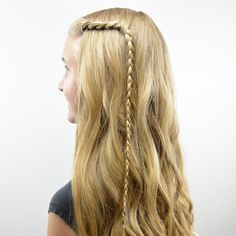 This style is one that takes mere minutes to do and is perfect for a school morning or when you're in a rush to get out the door.  There's no need for bobby pins that tend to slide out and it keeps your hair pulled back and out of your face nicely.