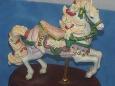 Lenox 1993 LE Annual Christmas Carousel Horse Teddy Bear Stocking 24K Retired