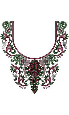 Latest Neck Embroidery Pattern
