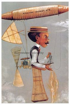 Santos Dumont Flying Machine Vanity Fair 1915 by SurrenderDorothy