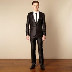 2015 Fashionable Custom Made Black Chintz Tailored Slim Fit Formal Suit For Men Best Men Suit Jacket+Pants+Tie Black And White Formal Attire Black And White Tuxedos From Wangzhezhijia686, $73.85| Dhgate.Com