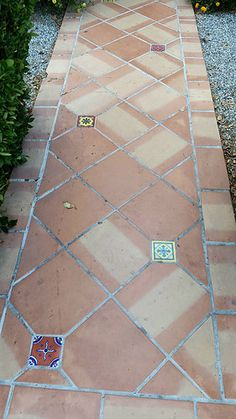 Decorative Patio Tiles Mesmerizing Images Of Patio Tiling  Of Saltillo Pavers With Insets Of Our Review