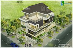biệt thự đẹp Dream Home Design, House Design, Mansions, House Styles, Home Decor, Decoration Home, Manor Houses, Room Decor, Villas