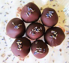 Dark Chocolate Lavender Gin Truffles