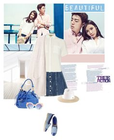 """""""IU & Lee Hyun Woo"""" by junglover ❤ liked on Polyvore featuring UNIONBAY, AG Adriano Goldschmied, Maison Michel, Dorothy Perkins, Mila Louise and INC International Concepts"""