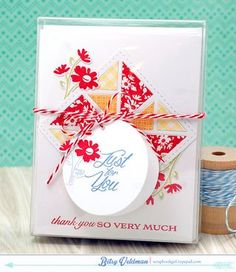 Quilt Thank You Boxed Notes by Betsy Veldman for Papertrey Ink (May 2015)