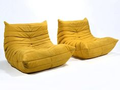 Pair of Michel Ducaroy Togo Lounge Chairs by Ligne Roset 2