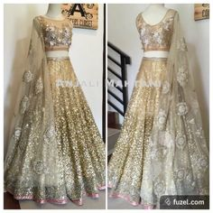 Darker color for reception? Golden Glitz ✨-bridal lehenga in sequined and crystallised accents Pakistani Outfits, Indian Outfits, Glitz Bridal, Desi Clothes, Indian Clothes, Indian Bridal Lehenga, Golden Bridal Lehenga, Bollywood, Indian Wedding Wear