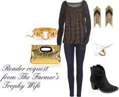 """""""Reader Request from The Farmer's Trophy Wife"""" by westernglamour on Polyvore"""