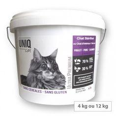 Croquettes chat stérilisés ou d'intérieur sans céréales Uniq Cat Ultra Premium, Croquettes Chat, Acide Aminé, Gluten Free Cereal, To Gain Weight, Cats