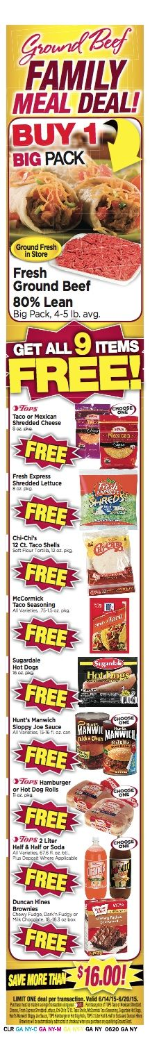 Tops Ad Scan June 14 is Live! Ground Beef Meal Deal, (3) Gas Combo Deals, Coupon Matchup Preview and more : #GroceryStores, #Stores, #Tops Check it out here!!