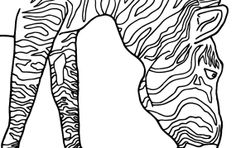 Colouring page of Zebra Mammal by JohnsIllustrations on Etsy, $1.38