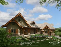 Craftsman beauty 🌿 The Plan, How To Plan, Porches, Mountain House Plans, Mountain Cottage, Storybook Cottage, Craftsman Style House Plans, Cottage Style Homes, Country Homes