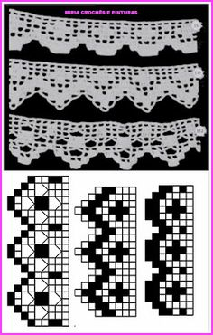 This Pin was discovered by ayş Crochet Blanket Border, Crochet Border Patterns, Crochet Boarders, Crochet Table Runner Pattern, Crochet Lace Edging, Thread Crochet, Knit Or Crochet, Crochet Doilies, Crochet Stitches