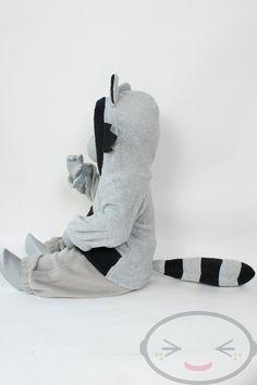 BABY & TODDLER Raccoon Hoodie 3 Month to 18 Month by lemonbrat