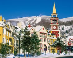 Cozy up after a ski run at Mont Tremblant. And don't forget to pack the Häagen-Dazs. #Canada #Travel #Quebec