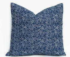 Blue Pillow Cover. 18x18 inch Decorative Pillow by ThePillowToss, $17.00
