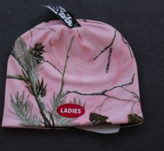"""Realtree womens pink camo beanie hat reversible NEW 9"""" hunting odor control  picclick.com"""