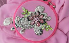 embroidered with crystal beads
