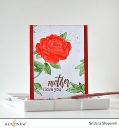 Elegant, sophisticated and beautiful rose stamp set with just a perfect amount of lovely sentiments! Use the rose images alone to create various floral cards, or mix and match with sentiments to creat