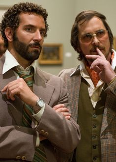 American Hustle (2013) | #ChristianBale #BradleyCooper NYE party inspo