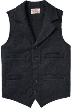 Examine our big variety of girls' top inclusive of puffer shirt, down jacket, quilted vest. Waistcoat Men, Vest Men, Western Vest, Wool Vest, Mens Clothing Styles, Men's Clothing, Vintage Men, Work Wear, Menswear