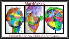 """""""MaryMaking"""" is run by Mary, a SCAD grad with a B. A. in Graphic Design who has worked as as a fine artist and became a children's art teacher mid-life. She shares her student's projects and their art -- awesome blog!"""