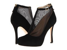 Kate Spade New York Neveah Black Suede/Black Mesh - Zappos Couture