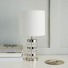 Clear Disc Table Lamp - Small