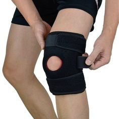 EveShine Adjustable Knee Brace Support with Dual Side Stabilizers & Open Patella, Non-Slip Protective Strap Give You The Support and Compression You Need Knee Brace, Knee Injury, Injury Prevention, Wrap Around, Braces, Running Training, Legs, Velcro Straps, Women