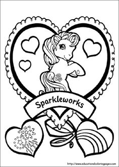 free printable ittle pony friendship is magic sparkle coloring pages for girls print out coloring sheet for girls fargelegge tegninger pony friendship is