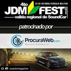 #Repost @zuautomagazine with @repostapp  Volvemos con el 4to JDM FEST MCBO 2016 el proximo 22 de octubre con la final de @juecesjdmvzla (SOLO COMPETENCIA) en las categorias JDM USDM EDM KDM y la VALIDA REGIONAL DE SOUND CAR avalado por @opcar_venezuela en el @circulomilitarmaracaibo para terminar el año! Patrocinado por: @procuraweb  @procuraweb