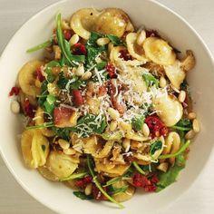 Pasta with Pancetta and Arugula