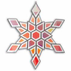 Dichroic Snowflake Bevel Cluster