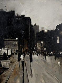 GEOFFREY JOHNSON Moonlight, 2015 Oil on canvas 40 x 30 inches