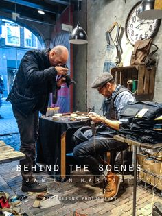 Behind the Scenes of DUKE & SONS Leather shoot! Japanese Streets, Japanese Street Fashion, Mens Lace Up Boots, Jeans And Boots, Workwear Fashion, Denim Fashion, Leather Tooling, Leather Men, Edwin Jeans
