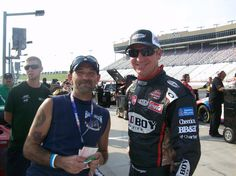 Me and Clint Boyer at Atlanta motor speedway  best labor day party in the country