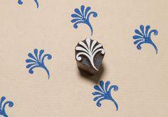 Floral patrón 118 sello del bloque de madera por BLOCKWALLAH