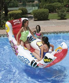 Another great find on #zulily! Aqua Rocker Fun Pool Float by Poolmaster #zulilyfinds