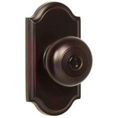 Weslock Elegance Oil Rubbed Bronze Premiere Keyed Entry Impresa Knob-01740I1I1SL23 - The Home Depot